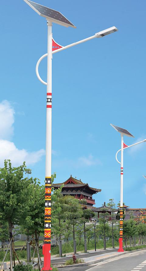 Solar ethnic street light case